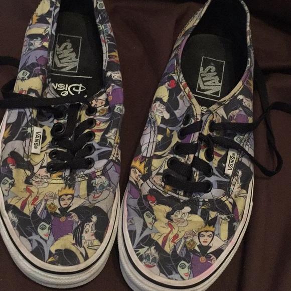 Vans Shoes   Disney Villain Vans Size 8